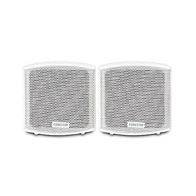 "FONESTAR Pair 2.5"" Wall Mount Speakers 8 Ohms PA Audio HiFi Loudspeakers 25W CUBE-62B by FONESTAR SISTEMAS S.A."