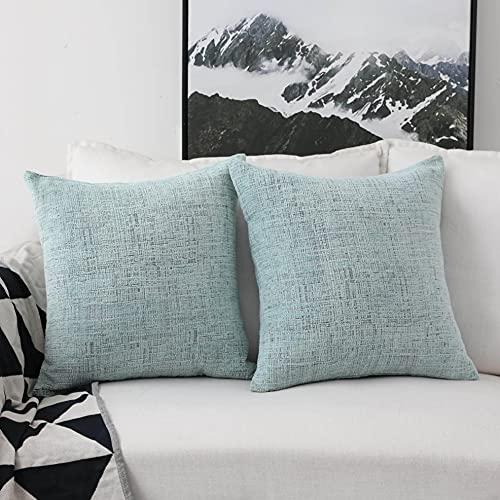 Home Brilliant Decorative Accent Pillow Case Striped Chenille Plush Velvet Cushion Cover
