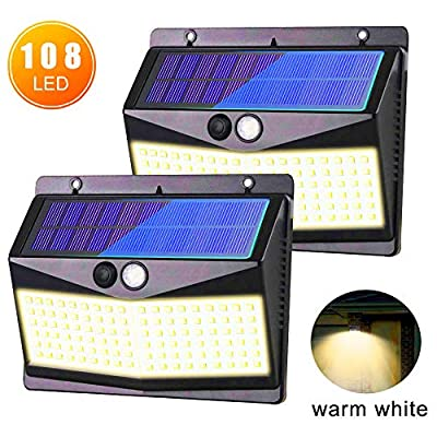 Solar Wall Lights Outdoor, Warm White ...