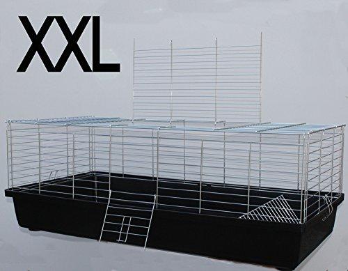 Heimtiercenter H1,20 m Hasenkäfig Nagerkäfig Kaninchenkäfig Käfig Stall Meerschweinchen schwarz