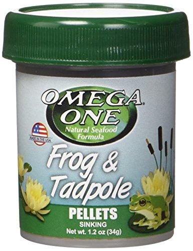 OMEGA 63131 1 One Frog & Tadpole Pellet 1.2oz, Yellow