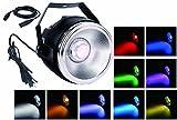 Par LED luce,TOM 40W RGBW COB par lavano le luci con un riflettore di alluminio lucido e p...