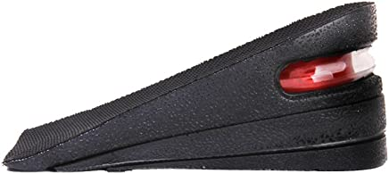 Generic Footful 1 Pair Of Detachable 3-Layer Air Cushion Height Increasing Half Insoles Pads (E_13007905, Black & Red)