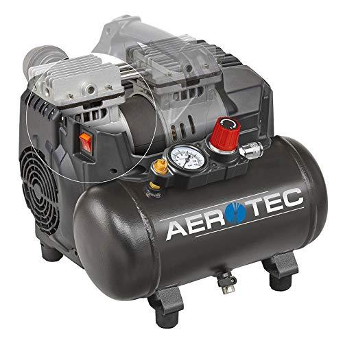 Compresor de aire comprimido portátil Supersil 6 L, sin aceite.