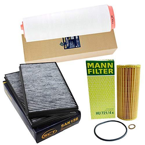 Inspektionspaket Filterset Luftfilter,Filter, Innenraumluft,Ölfilter von MANN-FILTER,SCT Germany