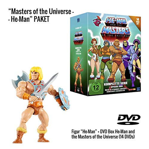 He-Man and the Masters of the Universe (Komplette Serie auf 14 DVDs) + He-Man Actionfigur (14 cm)