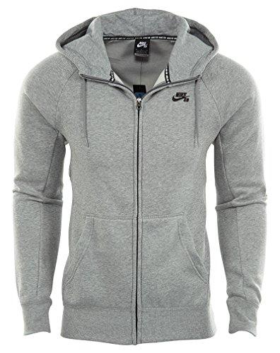 Nike SB Symbol FZ Hoodie Heather Grey - Klein