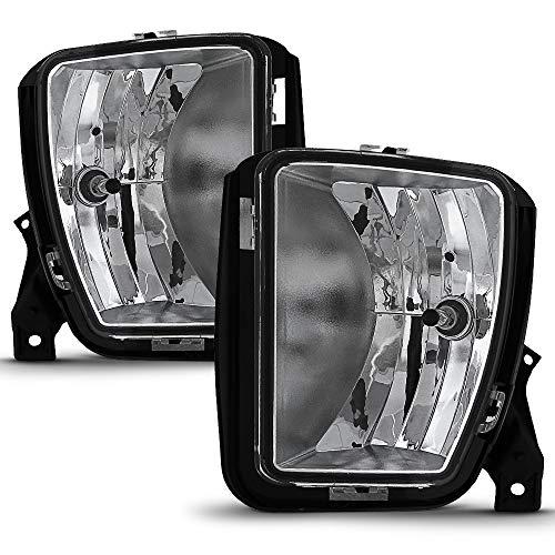 ACANII - For 2013 2014 2015 2016 2017 2018 Dodge Ram 1500 Fog Lights Lamps w/Bulbs Assembly Driver & Passenger Side