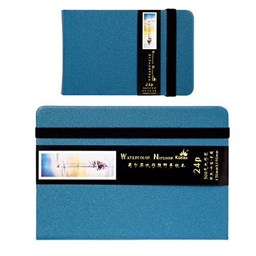Travel Watercolor 300g Adult Sketchbook 24 Watercolor Handboek Kunstbenodigdheden Tiffany Blue 9 cm.