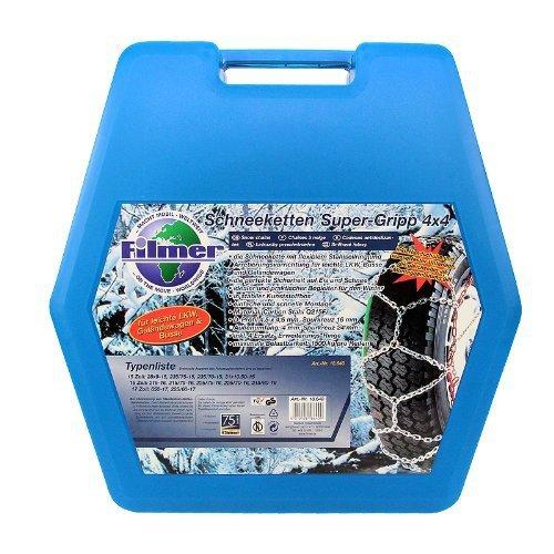 Filmer 18640 Schneeketten 4x4 in Stabiler Kunststoffbox 2 Stück, 40