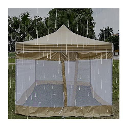 LJIANW-lonas impermeables exterior, Tienda De Jardín Tienda De Malla Impermeable Toldo Superior Velas Parasol Plegable 190T Tela Impermeable, Soporte Incluido, 4 Tamaños