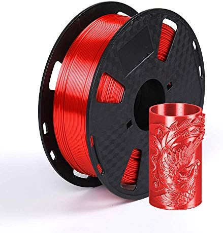 Silk Red PLA 1 75 mm 3D Printer Filament 1KG Silk Metallic Red PLA 2 2LBS Spool Shiny Silky product image