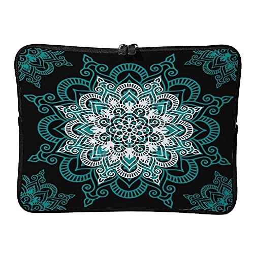 Yilooom 1311 - Custodia per computer portatile Ultrabook da 13 pollici, in neoprene, per notebook e tablet, con custodia in pelle, colore: verde e bianco