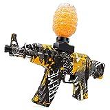 Electric Gel Gun Water Bead Gun AKM-47 Automatic Water Bullet Shooter Toy Gun for Adults Kids Ages 12+, Fun Backyard Outdoor Games Toy Blaster Gun, Graffiti (Yellow)