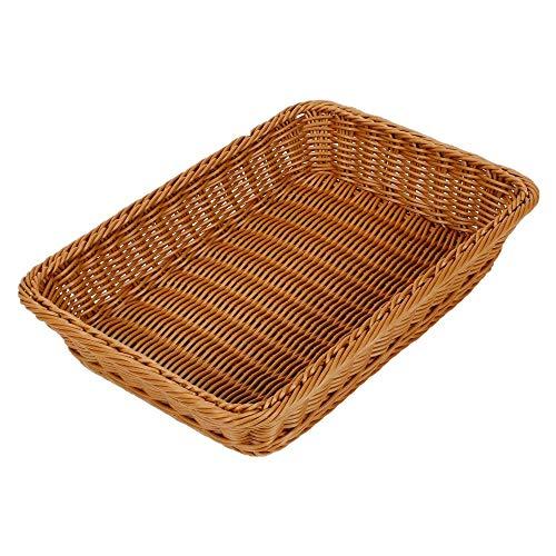 MRMRMNR Canasta de Prueba de Pan, Cesta para Pan de Mimbre Tejido Largo para Alimentos Frutas Verduras Servicio de Restaurante Color marrón Miel para Restaurante Cocina