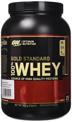 Optimum Nutrition Gold Standard 100% Whey Proteine del Siero di Latte in Polvere, Gusto Doppio Cioccolato - 908 gr