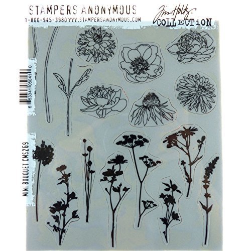 Stempel Anonymous cms269 Tim Holtz selbst Stempeln, Mehrfarbig, 7 x 21,6 cm