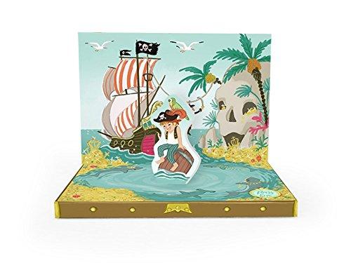 My Design Co. Carte de boîte à musique 3D Pop Out, 15,2 x 11,9 cm, aventure pirate
