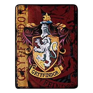 """Warner Brothers' Harry Potter """"Battle Flag"""" Throw Blanket Soft and warm micro raschel fabric; decorative binding around all edges Measures 46""""W x 60""""L Machine Washable"""