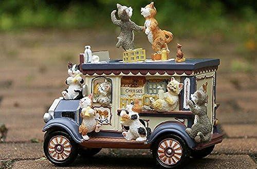 buena reputación Driverder Caja Musical para Regalo de Decoración Unisex. Unisex. Unisex. Cartoon Milk Car Cat Dancing Music Box para Regalo de cumpleaños y decoración de la Boda  mejor servicio