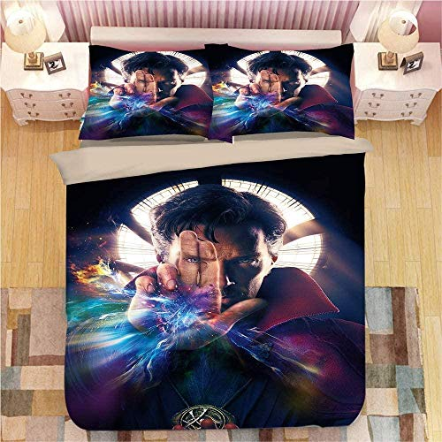 Bcooseso Home Textile 3d Cool movie doctor character Stitch Bedding Set Kids Duvet Cover Sets with Pillowcase Bed Linens Bedclothes Twin Full Queen King Size Single size 135 x 200 cm