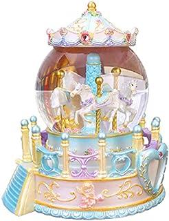 GJHK Boîte De Musique De Rêve De Fille De Fille, Boule De Cristal De Carrousel, Lumière De Souhaits, Cadeau De Noël Exquis...
