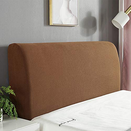 5s Waterproof Headboard Cover Slipcover, Elastic All-inclusive Bedhead Cover Dustproof Bed Head Back Cover For Beds Cover Protective Wood Leather Bed Dust Cover Home Decor Slip Cover,Brown1-200cm