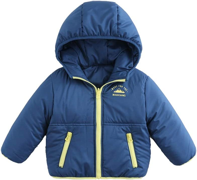 Warm Clothes Boys Girls Winter Coats Warm Soft Puffer Down Jacket Kids Puffer Jacket with Hood Thicken Outdoor Coat Universal (Color : Blue|,| Size : XXX-Large)