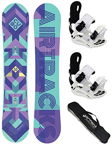 Airtracks dames snowboardset - CUBO Lady snowboard Rocker + snowboardbinding Star W of Master FASTEC W + snowboard bag / 140 145 150 cm