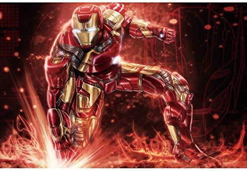 Patrón superhéroe Iron Man, de madera rompecabezas for adultos de los niños, Ejercicio humano la capacidad de pensar 300/500/1000 Piezas for Boy Girl Friends juguetes del regalo juego de decoración De