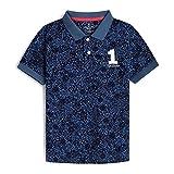 Hackett Allover Print B Camisa Polo, 551BLUE, K05 para Niños