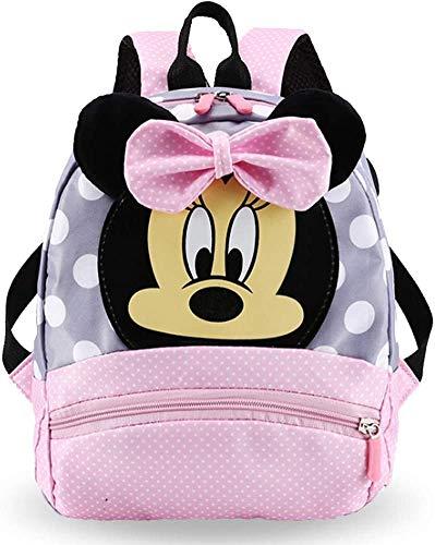 FGen zaino minnie, zainetto per bambini della scuola materna e scuola elementare, zaino minnie rosa, adatto per regali di compleanno per bambine