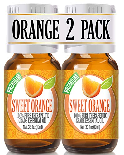 Sweet Orange Essential Oil - 100% Pure Therapeutic Grade Sweet Orange Oil - 2 Pack