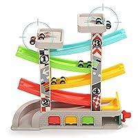 TOP BRIGHT Pista Macchinine per Bambini 1 2 Anni– Pista Auto da Corsa con 4 Mini Macchinine – Senza BPA, in Legno – Resistente e Sicura – Gioco Educativo Colorato e Divertente #7