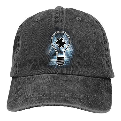 Preisvergleich Produktbild Voxpkrs Trucker Cap Lightbulb Autism Awareness Durable Baseball Cap Hats Adjustable Dad Hat Black Comfortable24976