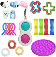 20PCS Fidget Toy Set, Sensory Fidget Toys,Handheld Mini Fidget Toy, Fidget Simple Dimple Toy Stress Relief Hand Toys,...