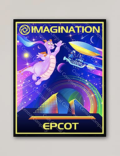 Imagination with Free shipping Figment Epcot Center Poster Disney Vintage Walt SEAL limited product