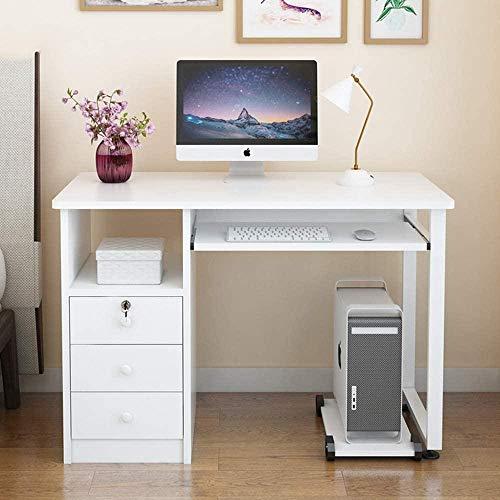 REWD Escritorio para computadora Mesa para computadora portátil Mesa para computadora Mesa de Trabajo Mesa Moderna Cajón Mesa para PC Oficina Ocio Mesa de Conferencia Escritorio