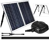 Kit de bomba de agua con fuente solar de 50 W, 898 GPH+ bomba sumergible con panel solar de 50 vatios para cascada, sistema de filtración, fuente de energía solar, acuicultura, estanque de peces, aireación de estanques, hidroponía