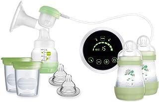 MAM Sacaleches 2 en 1 E108 - Sacaleches Eléctrico y Manual Para la Lactancia Materna, Incluye Extractor de Leche Materna, ...
