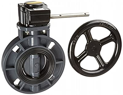 """Hayward BYC1030E1GGB BYC Series PVC Butterfly Valve with Gear Handle, EPDM Liner, 3"""" by Hayward"""