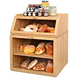 Best Bread Boxes - X-cosrack Large Double Separable Bamboo Bread Box Storage Review