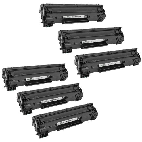 Speedy Inks Compatible Toner Cartridge Replacements for HP 83A CF283A (Black, 6-Pack)