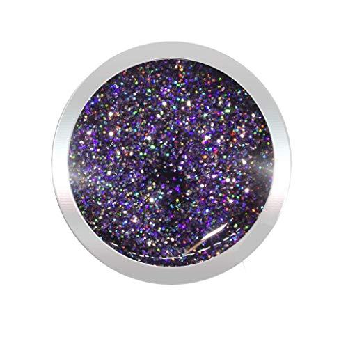 Glittergel für Gelnägel 5ml | UV LED Nagelgel Farbe: Lila Multi | Effekt Gel | Nageldesign wie im Nagelstudio