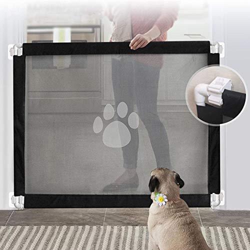 Gorgebuy Kindertreppen,Treppenschutzgitter Hundelaufställe Faltbar,Tragbar Hundeschutzgitter Innen und Außen Schutz,Welpenlaufstall für Haustier Welpen Hunde Katze Baby