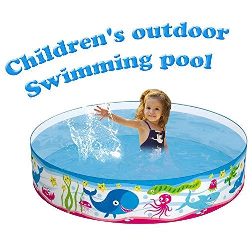 Kinderzwembad, PVC Slijtvast opblaasbaar zwembad, Familiezwembad boven de grond, Peddelbad voor leeftijden 3+, 59,84 9,84 inch (diameter hoogte)