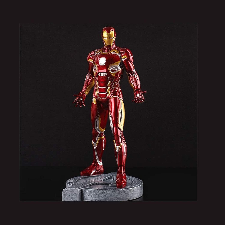 HNBY Movie Character Statue modellolo di Auto Iron uomo Mark45 rosso modello Statue Anime Decoration Alta 30cm Statue