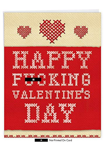 NobleWorks - Funny Valentines Card for Adults (8.5 x 11 Inch) - Big Naughty Romance, Greeting Card for Valentine's Day - Happy Valentines J2142VDG