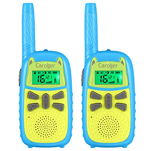 floureon Walky Talky for Kids,2 Way Radio Toys 22 Channe Long Range Outdoor Kids Walkies talkies for Children Toys (Green & Blue,2 Pack)