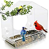 Wild Birds of Joy Bird House Window Bird Feeder with 4 Super Strong...